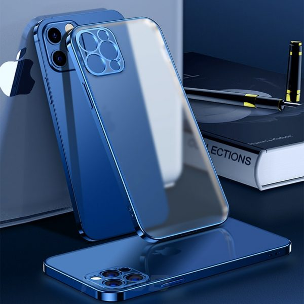 Luxury Plating Square Frame Matte Soft Silicone Case for iPhone 11 12 13  Pro Max Mini XR X XS 7 8 Plus SE 2020 Transparent Cover – The Best Place  Shop